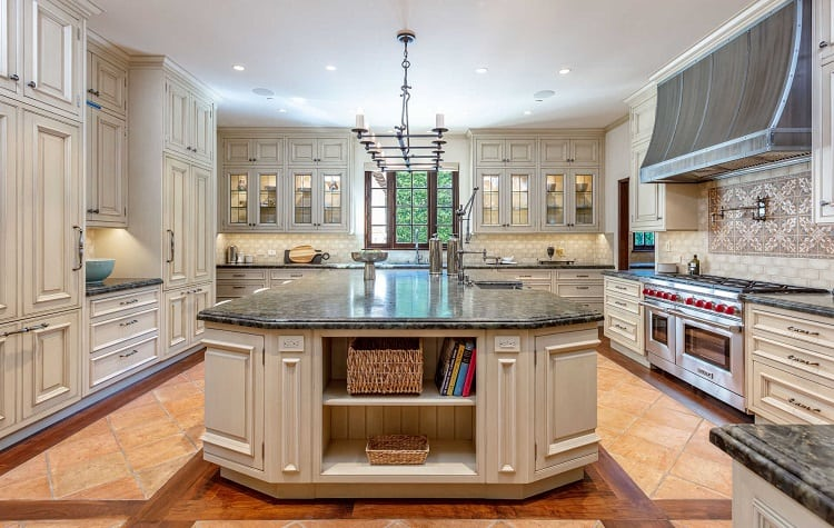 Kitchen of ua-luxurious villa on N. Roxbury Drive